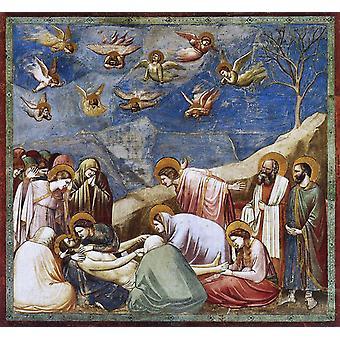 Оплакивание Христа, Джотто ди Бондоне, 50x50cm