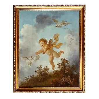 With ram Pursuing a dove, Jean-Honore Fragonard, 61x51cm