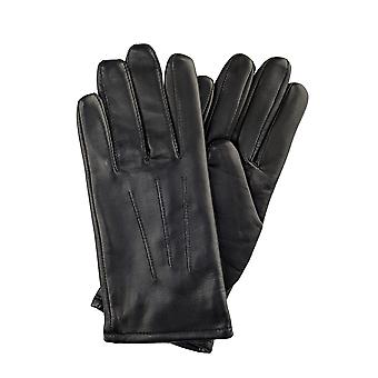Ladies 3 Point Leather Gloves in Black