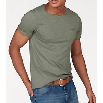 Tom Tailor Denim classic men's T-Shirt with Pocket olive green