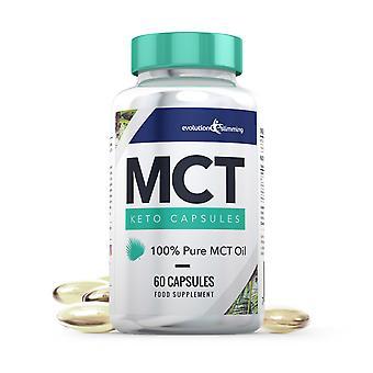 MCT Oil Keto Capsules 100% Pure MCT Oil - 60 Capsules - MCT Oil Capsules - Evolution Slimming