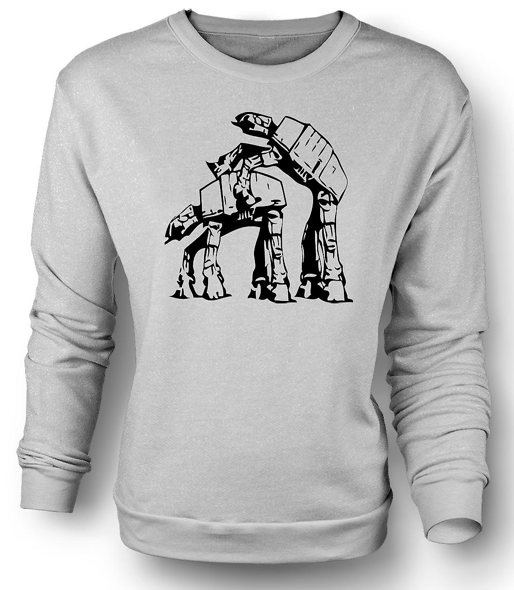 Mens Sweatshirt Star Wars-AT AT - Funny rétro