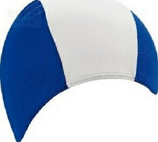 BECO 80% Polyester / 20% Elastane Fabric Adults Swim Cap-Blue/White