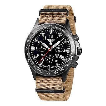 KHS watches mens watch black platoon titanium chronograph KHS. BPTC. NT