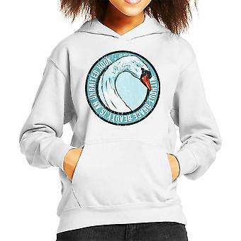 Swan Grace And Beauty Kid's Hooded Sweatshirt