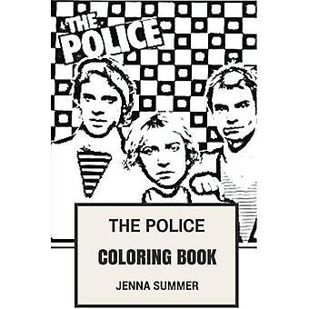 Le livre de coloriage de Police: Épique Reggae Punk-Rock et Jazz Band Sting et musique de nouvelle vague d'inspiration livre de coloriage adulte