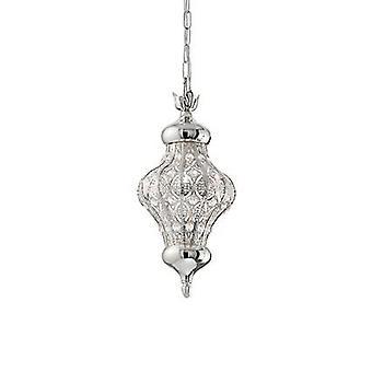 Ideal Lux - Nawa-3 Small One Light Silver Finish Pendant IDL140827