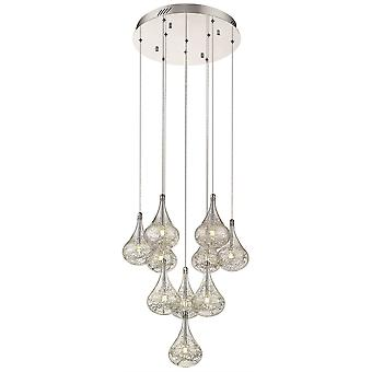 Spring Lighting - Bournemouth Chrome And Glass Ten Light Pendant  CBUU045DI10EFDP