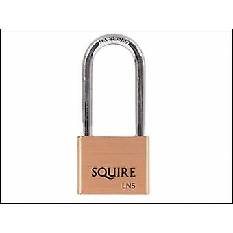 LN5/2.5 LION BRASS PADLOCK LONG SHACKLE 65MM