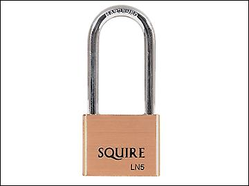 Henry Squire LN5/2.5 Lion Brass Padlock 5 Pin 65mm Long Shackle