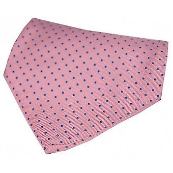 David Van Hagen Pin Dot Silk Handkerchief - Pink/Blue