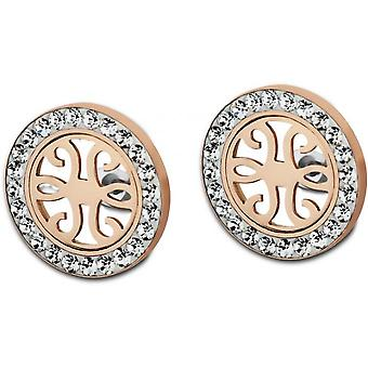 Earrings privileges LS1779-4-2 - e Ajour crystals earrings Rose Gold woman