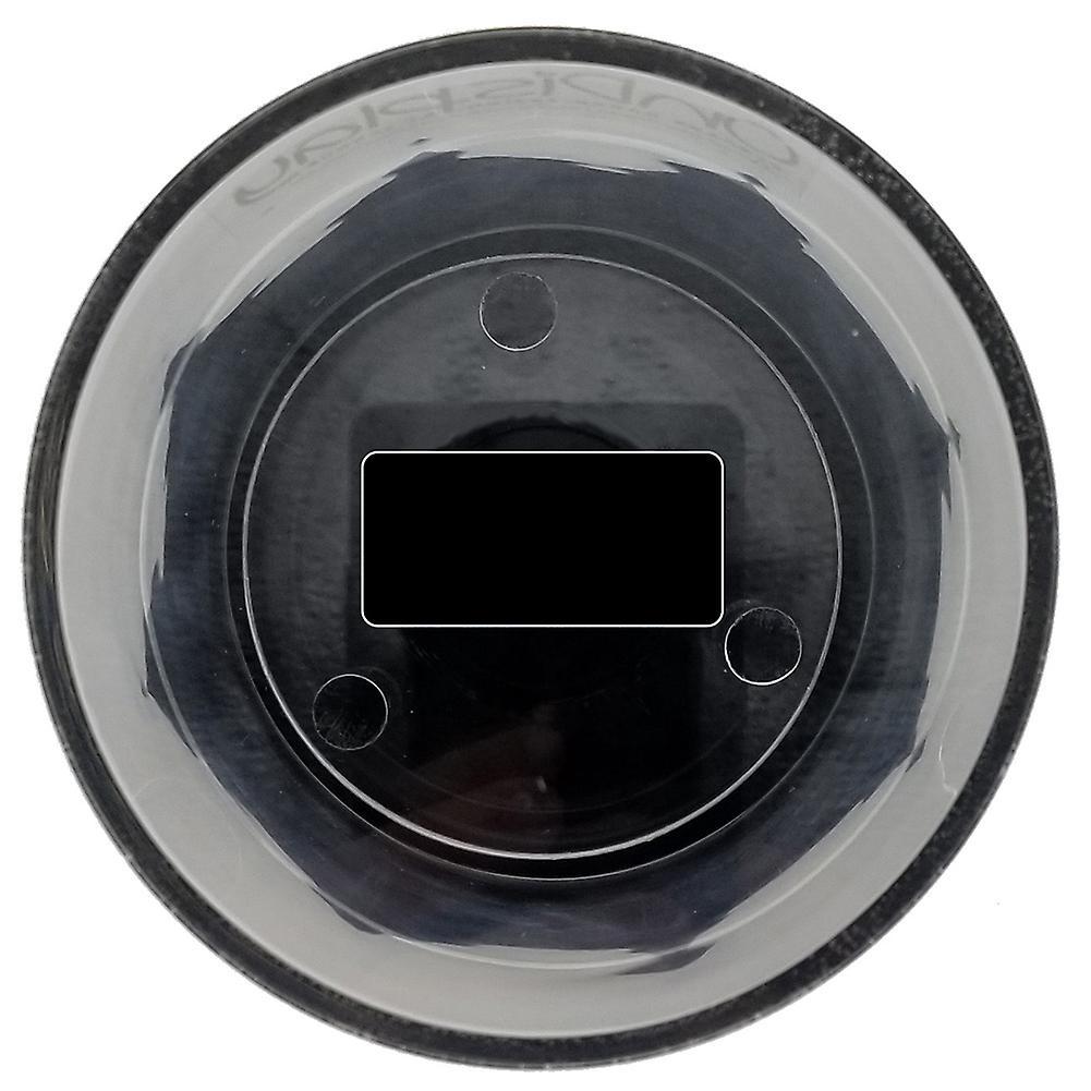 OnDisplay Deluxe UV-Protected Hockey Puck Display Case - Round Black Base