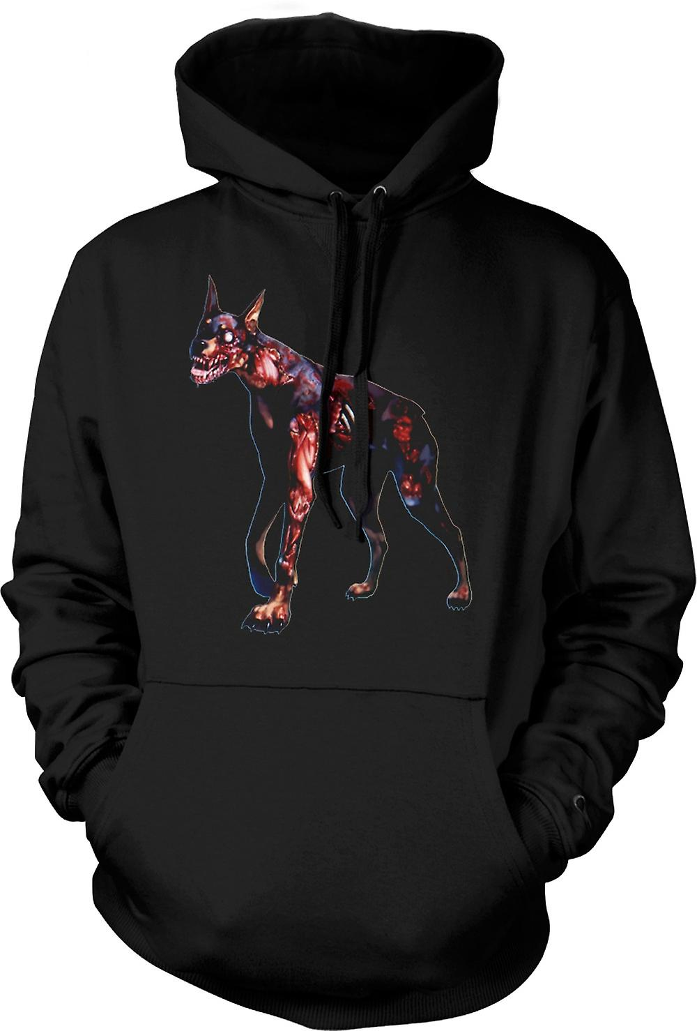 Mens Hoodie - I Love Zombie Dogs