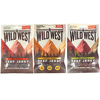 Wild West Mixed Flavour Beef Jerky 35G X 3
