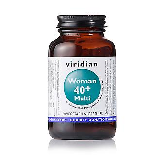 Viridian Woman 40+ Multi 60 veg caps