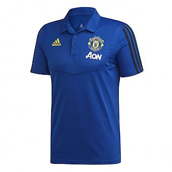 2019-2020 mand Utd Adidas træning Polo skjorte (blå)