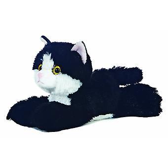 Aurora 8-tums Flopsie Cat (Svartvitt)