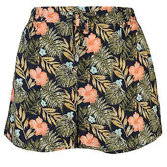 Golddigga Womens Print Shorts Ladies Drawstring fastening Lightweight