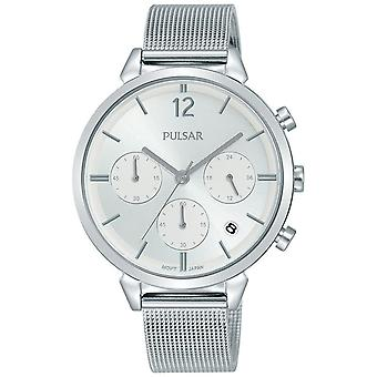 Casual Pulse Quartz Analog Woman Watch with STAINLEss Steel Bracelet PT3943X1