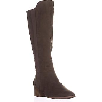 Style & Co. Womens Finnly Suede Almond Toe Mid-Calf Fashion Boots