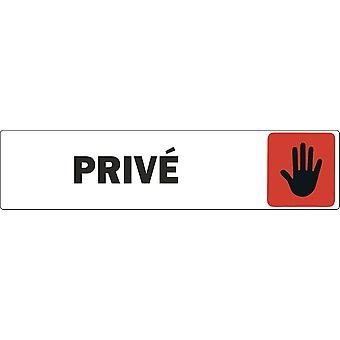 Autocollant Sticker Porte Portail Commerce Bureau Magasin Prive Panneau