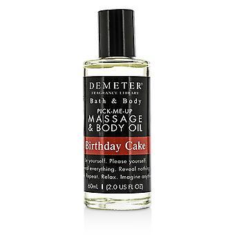 Pastel de cumpleaños de Demeter de masaje y aceite - 60ml / 2oz del cuerpo