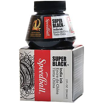 Speedball India Ink 2 Ounces Super Black Sb3338