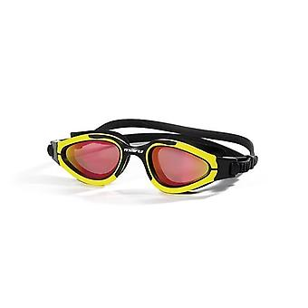Maru Groove Swim Goggles -Red Mirror Polarized Lens -Yellow/Black Frame