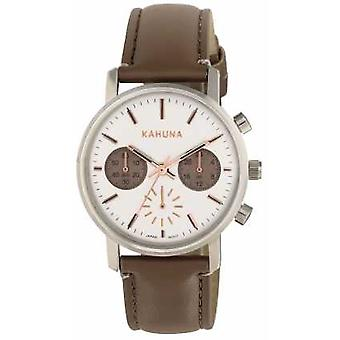 Kahuna Womens Brown Strap White Dial KLS-0318L Watch