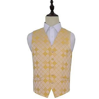 Sunflower Gold Diamond patroon bruiloft gilet