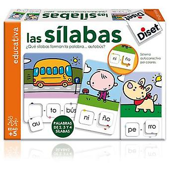Diset Learning game: The Syllables (Toys , Boardgames , Puzzles)