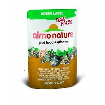 Almo Nature Green Label Raw Pack Huehnchenbrust + Putenfilet