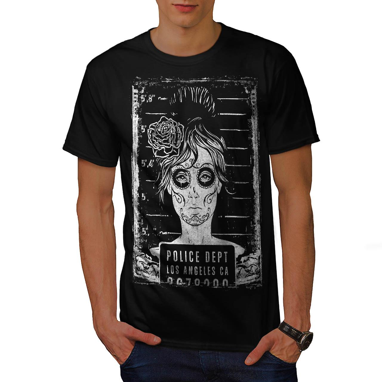 Police Department FBI LA Girls Men Black T-shirt | Wellcoda