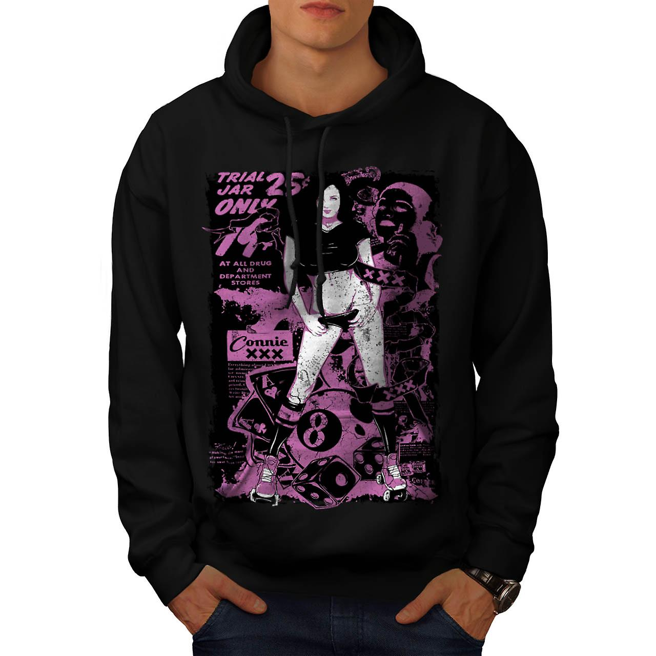 Girl Hot Trial Jar Sexy Men Black Hoodie | Wellcoda