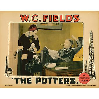 Le Lobbycard de potiers de gauche Ivy Harris WC Fields 1927 Movie Poster Masterprint