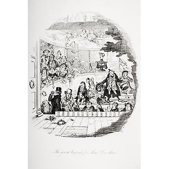 The Great Bespeak For MissSnevelli Illustration From The Charles Dickens Novel Nicholas Nickleby By HK Browne Known As Phiz PosterPrint