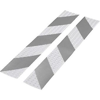 Warning stripe Conrad Components RTS Silver, Grey (L x W) 400 mm x 60 mm Content: 2 pc(s)