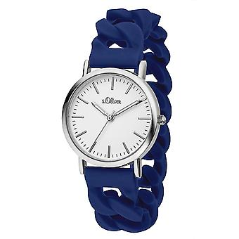 s.Oliver ladies watch wrist watch silicone SO-3261-PQ