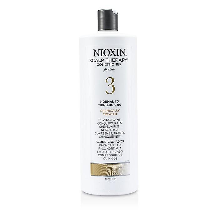 Nioxin System 3 Scalp Therapy Conditioner For Fine Hair, Chemically Treated, Normal to Thin-Looking Hair 1000ml/33.8oz