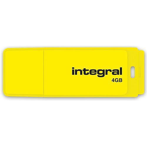 Integral 4GB Neon USB Stick - in Yellow a GADGET SHOW AWARD WINNER