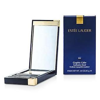 Estee Lauder Graphic Color Eyeshadow Quad - No. 05 Charming Pink - 8.5g/0.029oz