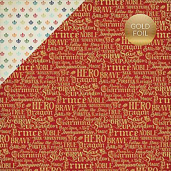 Once Upon A Time Prince Foiled Double-Sided Cardstock 12