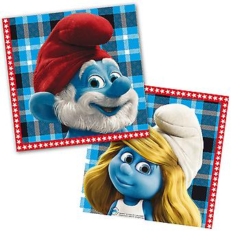 The Smurfs child party napkins 20 piece children's birthday