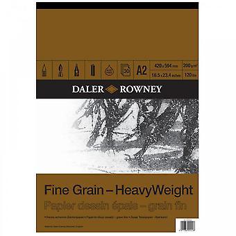 Daler Rowney Fine Grain Schwergewicht gummiert Pad A2