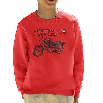 Haynes ejere Workshop Manual Norton Commando 745CC 828CC Kid Sweatshirt