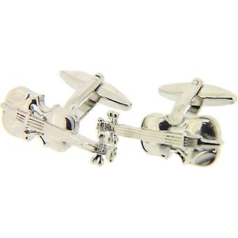 David Van Hagen Violin Cufflinks - Silver