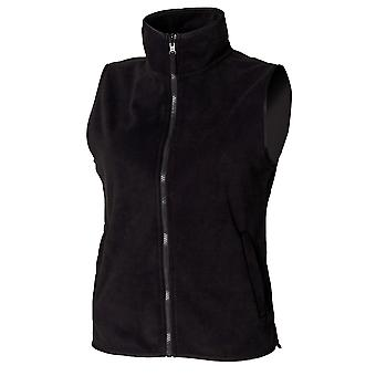 Henbury Womens/Ladies Sleeveless Microfleece Anti Pill Lightweight Jacket / Bodywarmer