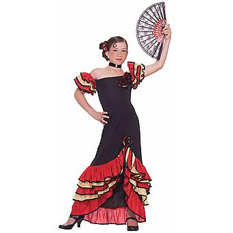 Flamenco Spanish Dancer Latin Spain Senorita Rumba Book Week Girls Costume