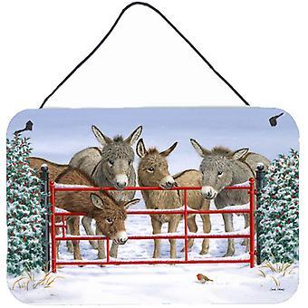 Carolines Treasures  ASA2198DS812 Donkeys and Robin Wall or Door Hanging Prints
